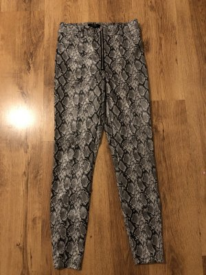 Bershka Leather Trousers multicolored