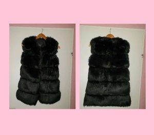 Veste de fourrure noir fourrure artificielle