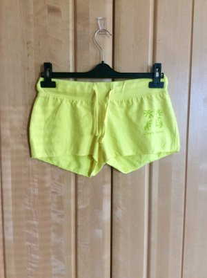 Fishbone Sport Shorts neon yellow-olive green cotton