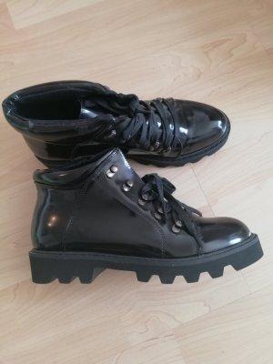 Neue Lack Buffalo Boots