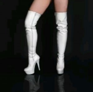neue Lack Overknee Stiefel High Heels
