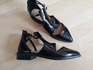Zara Ballerines à lacets noir