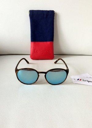 Neue Le Specs Sonnenbrille Swizzle | matte tortoise | blau verspiegelt