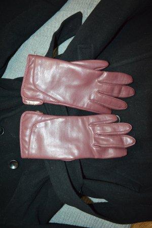 Neue Leder Handschuhe inw einrot innen Fell