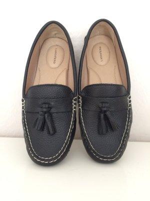 Neue Leder Loafer Moccasins Tassel schwarz