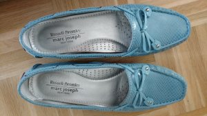 Neue Leder Mokassins von Marc Joseph New York Gr 41 1/2 hellblau