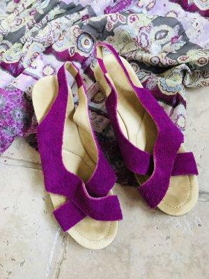 Neue LEDER Sandale Gr.41