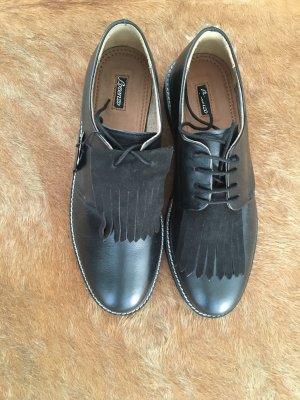 Chaussures à lacets noir cuir