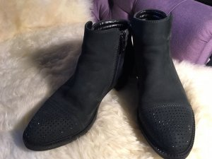 ara Zipper Booties dark green