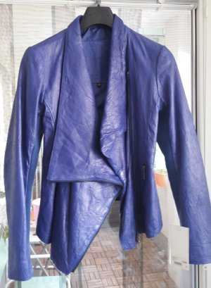 Cigno Nero Leather Jacket blue