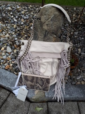 Liebeskind Berlin Fringed Bag oatmeal-light grey leather