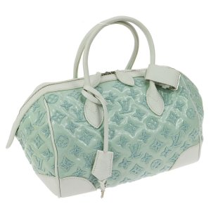 NEUE! Louis Vuitton Tasche Speedy Bouclettes Grün /Weiß  Limited Edition Perle Monogram