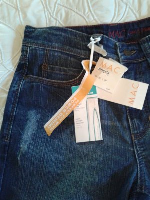 NEUE !!! MAC JEANS IM USED LOOK; GR.: 36/34,SUPER SLIM FIT,POWER DENIM