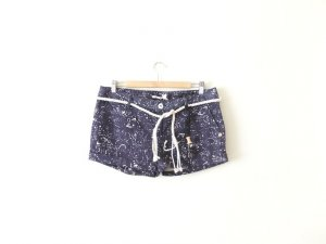 Neue Maison Scotch Gr. 3 38 40 blau Paisley Vintage look hot pants shorts