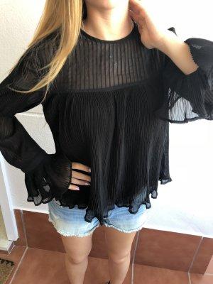 Mango Blusa de manga larga negro