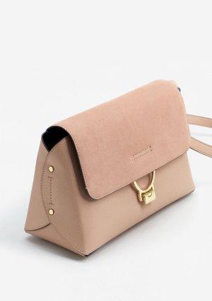 Neue Mango Tasche mit Lederklappe | rose