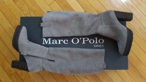 Neue Marc O'Polo Plateau Stiefel aus Wildleder in grau