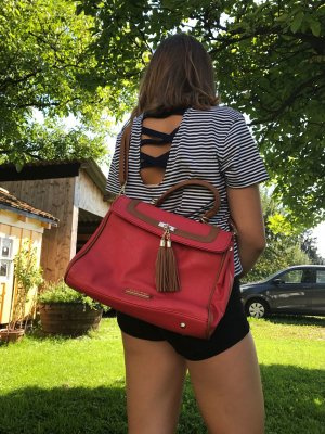 Marco Tozzi Handbag red-sand brown imitation leather