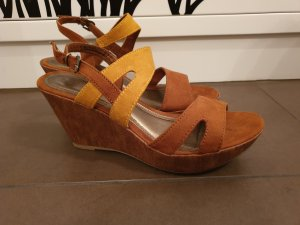 Marco Tozzi Wedge Sandals sand brown-brown