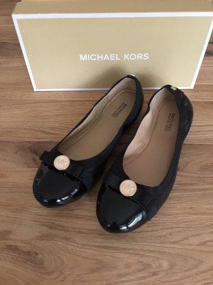 Michael Kors Patent Leather Ballerinas black leather