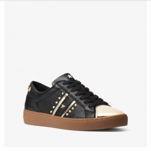 Michael Kors Lace-Up Sneaker black-gold-colored