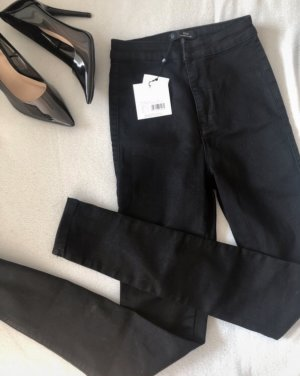 Missguided Hoge taille jeans zwart