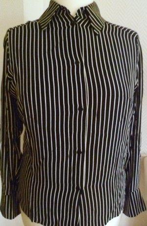 NEUE, modisch, gestreifte Bluse mit passender Krawatte -Gr.38
