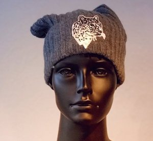 Bobble Hat dark grey-black mixture fibre