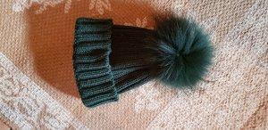 Impressionen Chapeau en tricot vert foncé