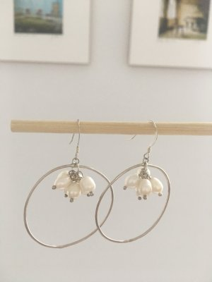 Neue Ohrringe Perlen Silber