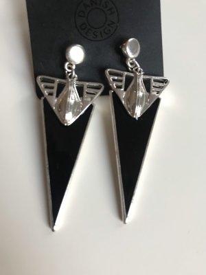 Pilgrim Orecchino a pendente nero-argento