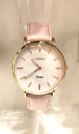 Neue Oozoo Uhr rosa rosegold echt Leder