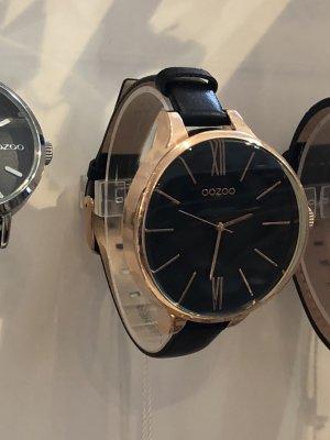 Neue Oozoo Uhr schwarz rosegold
