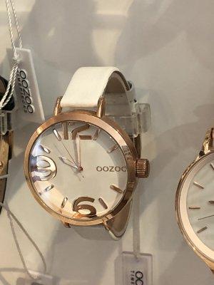 Neue Oozoo Uhr weiss rosegold Leder