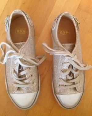 Neue Original Ash Sneaker aus Leder mit Glitzer