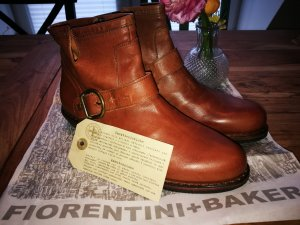 Fiorentini & baker Booties cognac-coloured-brown leather