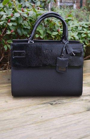 Neue originale Guess Handtasche schwarz silber