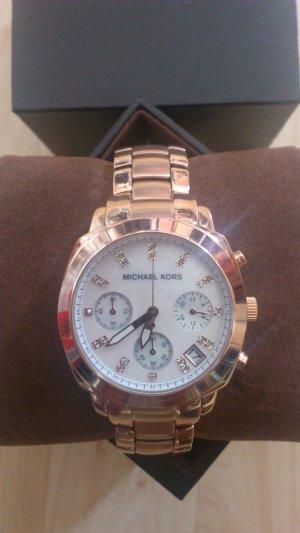 Neue originale Michael Kors Chronograph Uhr in roségold