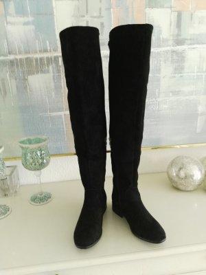 Overknees black-grey