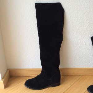 Neue  Overknee Stiefel von Zign schwarzes Veloursleder noch nie getragen