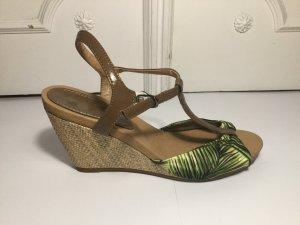Plateauzool sandalen veelkleurig Imitatie leer