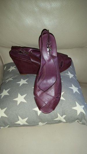 Neue Peep Toe Sandale von der Marke NOW!!, dunkelviolet, Grösse 10 (aus USA)
