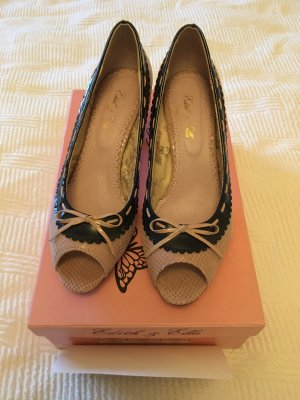 Edith & Ella Peep Toe Pumps pink-dark blue