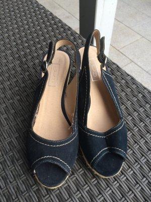 Deichmann High-Heeled Sandals dark blue-black