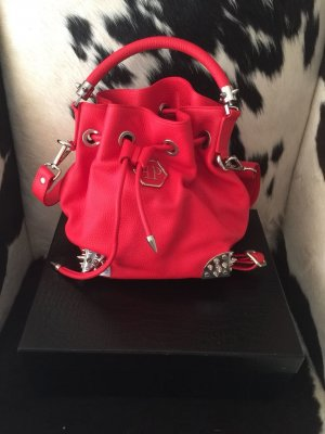Philipp Plein Carry Bag red leather