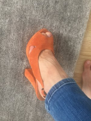 Catwalk High Heel Sandal dark orange leather