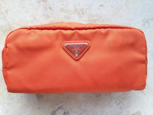 Neue PRADA Kosmetiktasche orange mit Authenticity Certificate Card