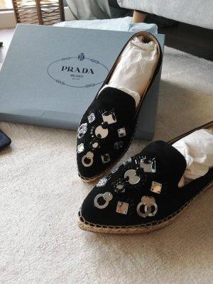 Prada Slip-on Shoes black-silver-colored