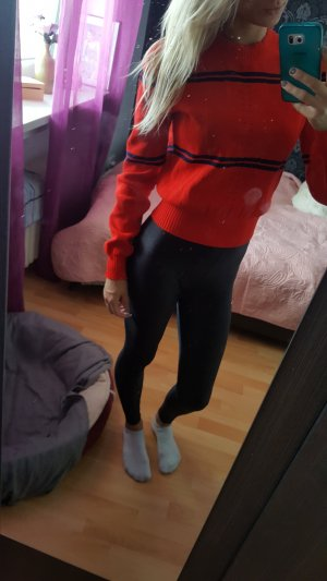 Jersey largo rojo ladrillo-azul