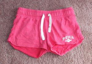 Puma Short de sport blanc-rose